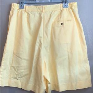 Talbots Shorts - Talbots size 16 yellow Bermuda shorts